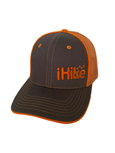 Hat-IHike Orange & Grey