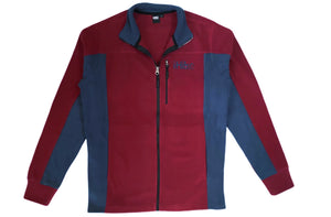Hiking Coat Polar Fleece -COLOR_Burgundy-Blue