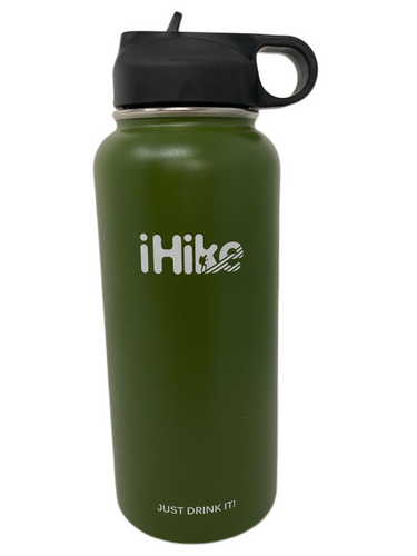 32oz Hydro Bottle-iHike Straw Lid                     COLOR-DARK GREEN