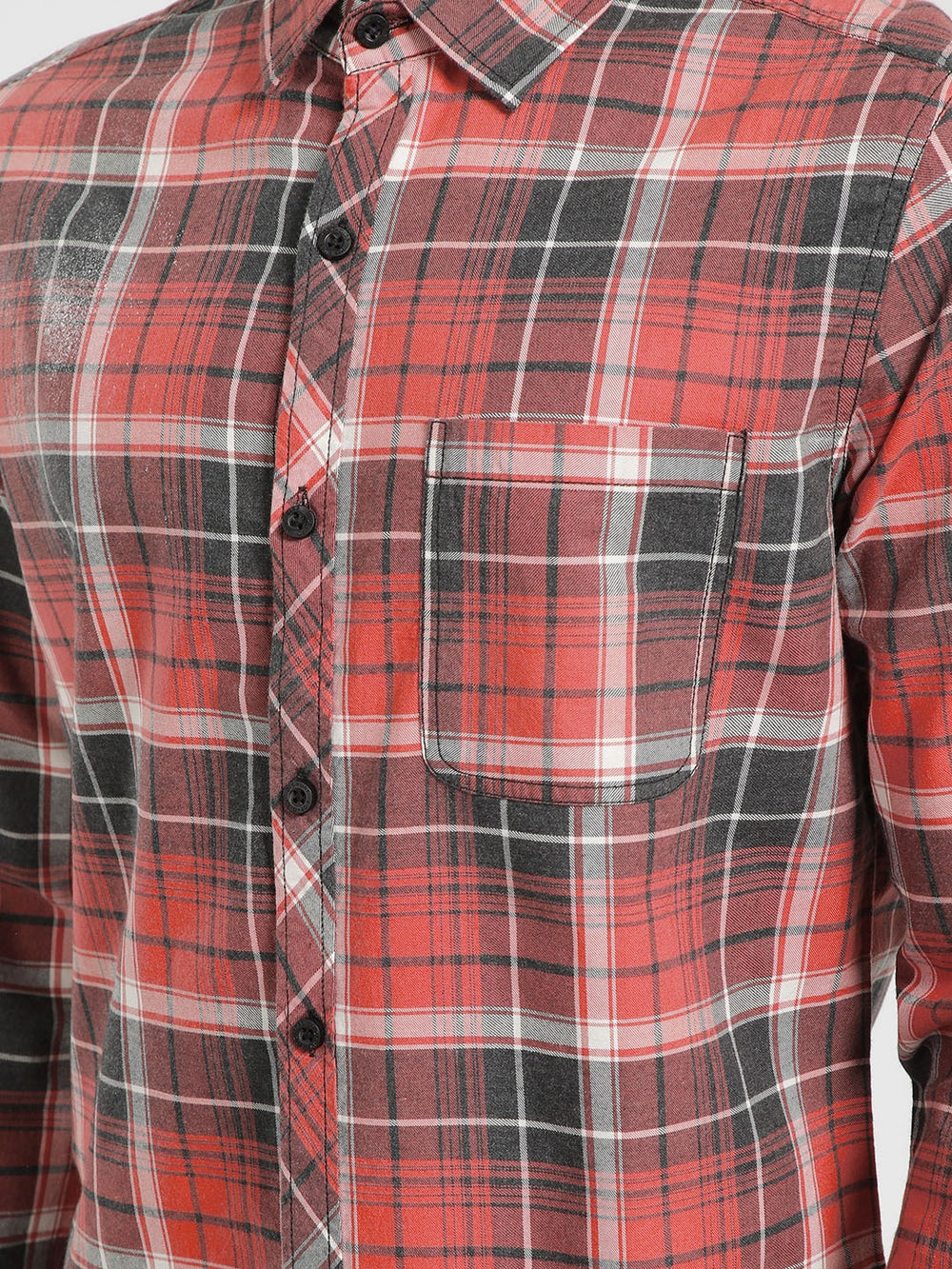 Disrupt Checkered Casual Cut Away Shirt