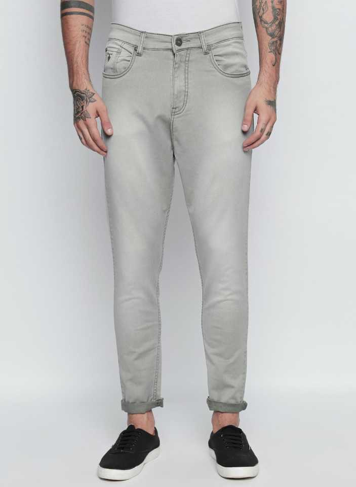 Disrupt Grey Regular Fit Jeans For Men's