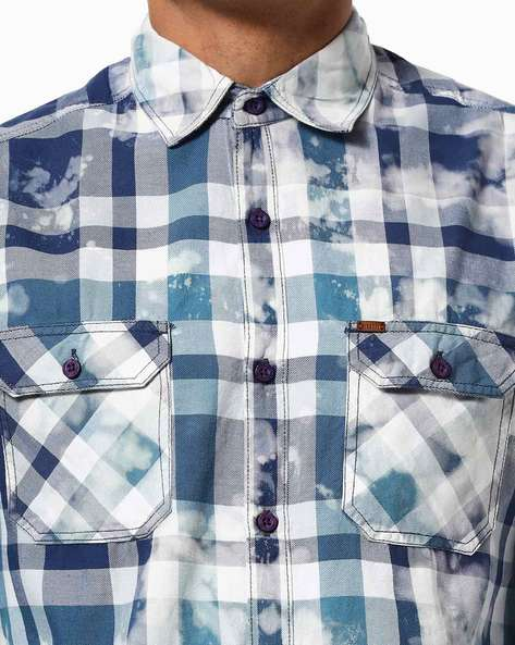 Disrupt Purple Cotton Full Sleeve Shirt