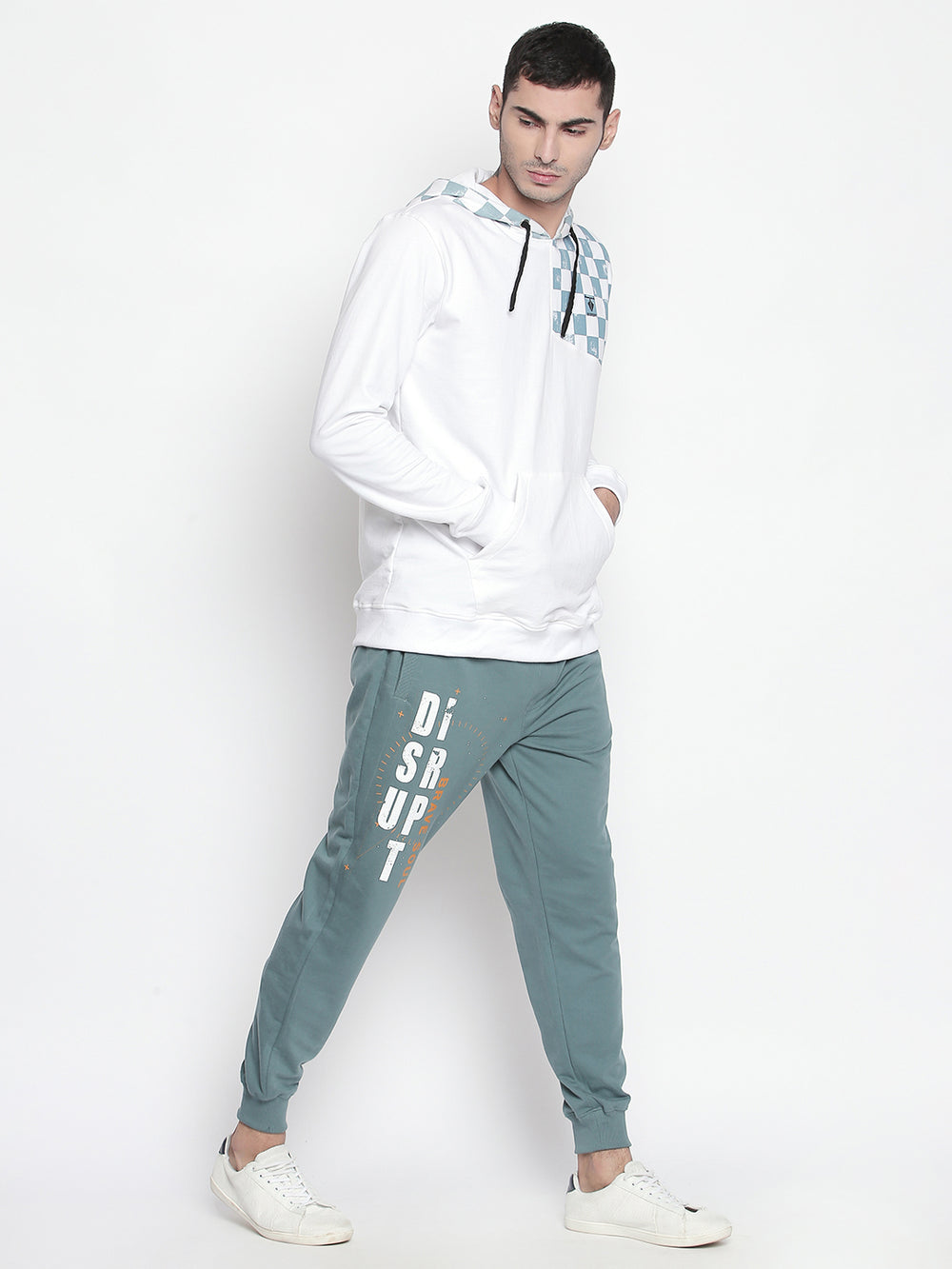 Disrupt Regular Fit Vintage Blue Jogger For Men