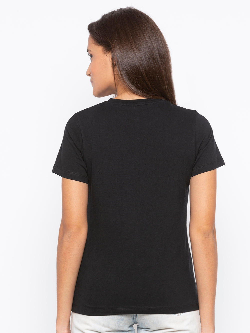 Disrupt Black Conquer Print Cotton T-shirt