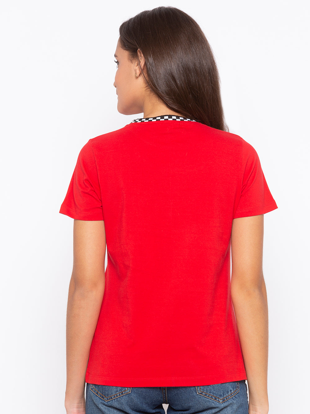 Red Never Normal Print Regular Fit T-shirt