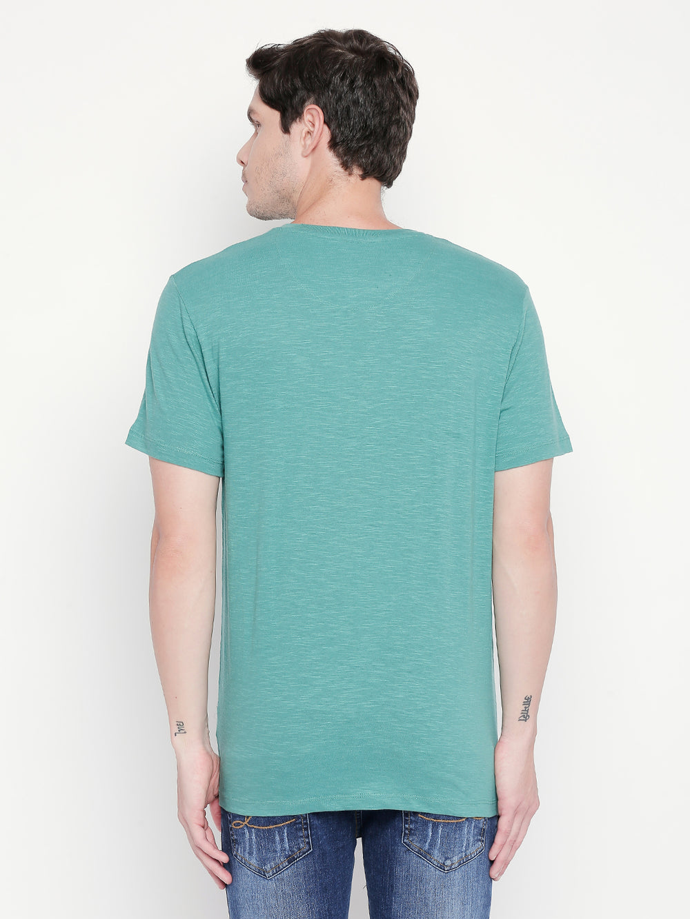 Light Sea Green Disrupt Graphic Print Regular-Fit T-shirt