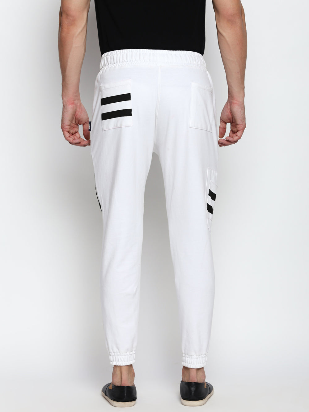 Disrupt White Cotton Joggers