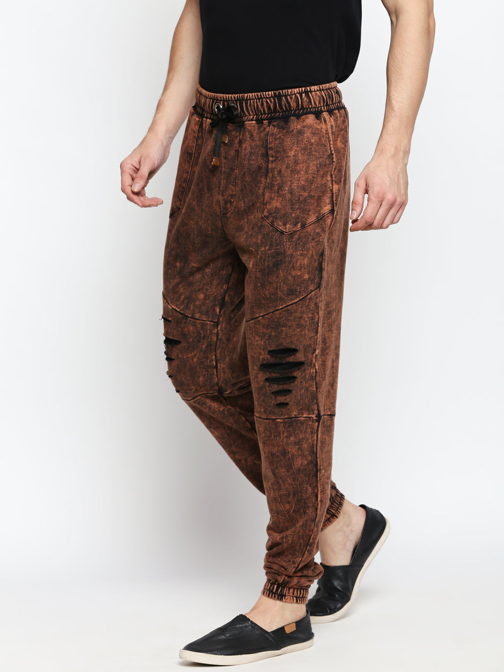 Disrupt Brown Cotton Joggers