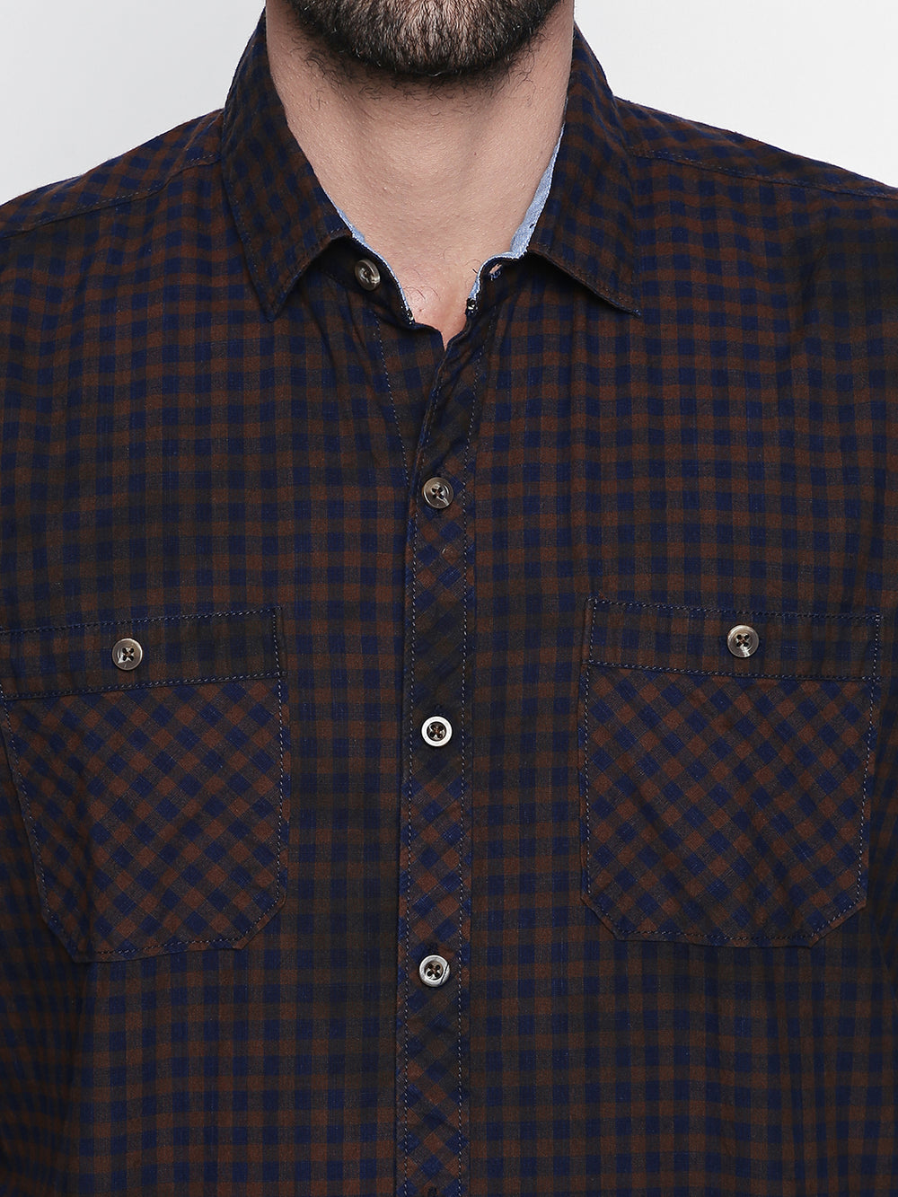 Disrupt Brown Cotton Full Sleeve Shirt
