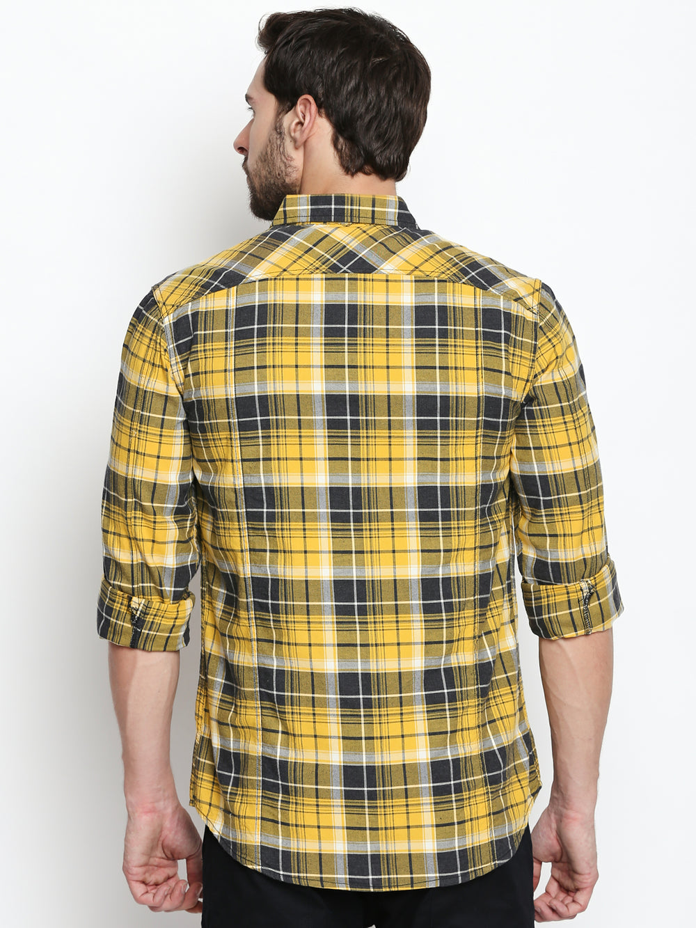 Disrupt Yellow Cotton Full Sleeve Shirt