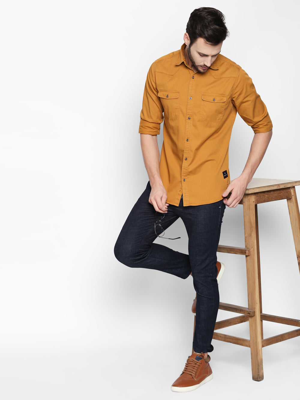 Disrupt Awker Cotton Full Sleeve Casual Shirt