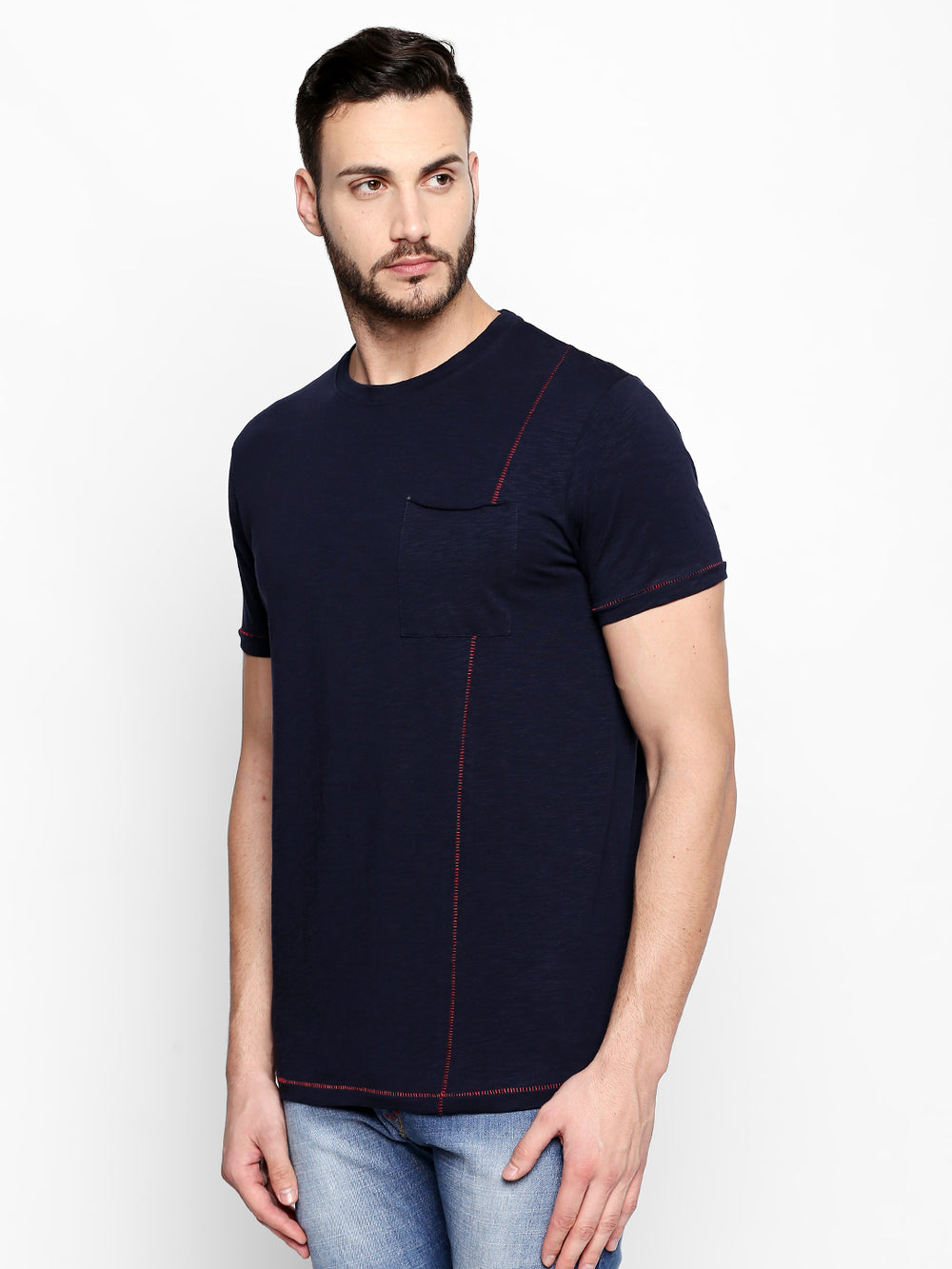 Disrupt Navy Cotton T-Shirt