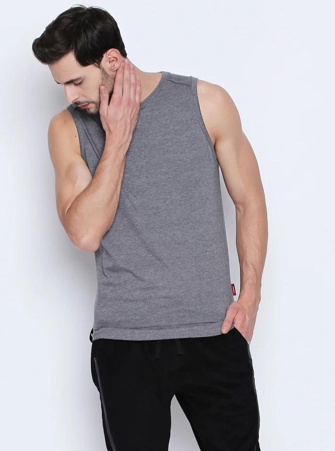 Disrupt Grey Cotton Vest