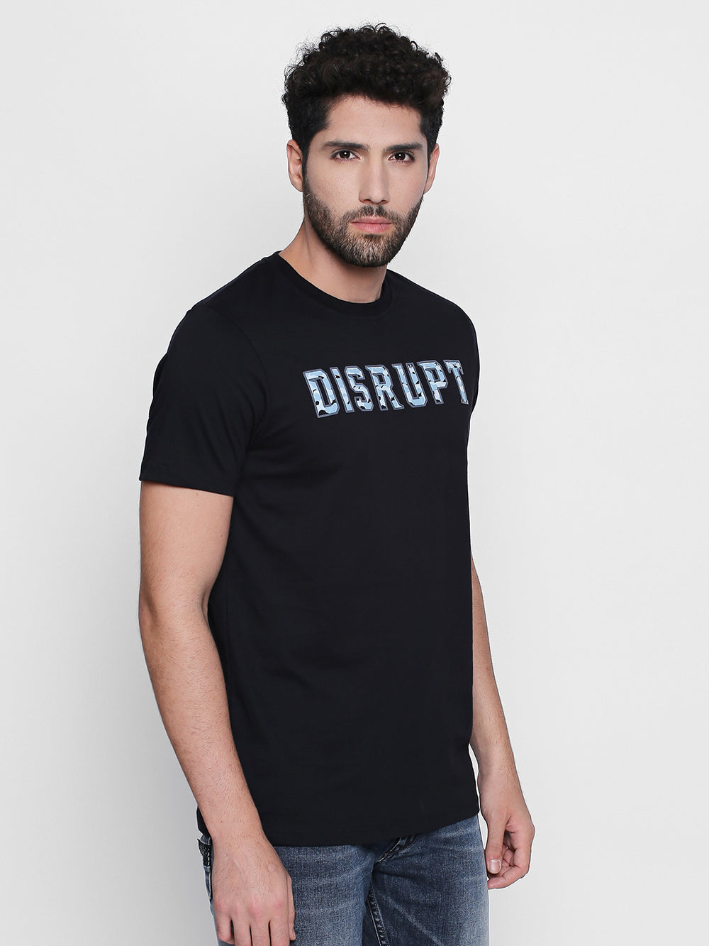 Disrupt Graphic Print Cotton Half Sleeve T-Shirt