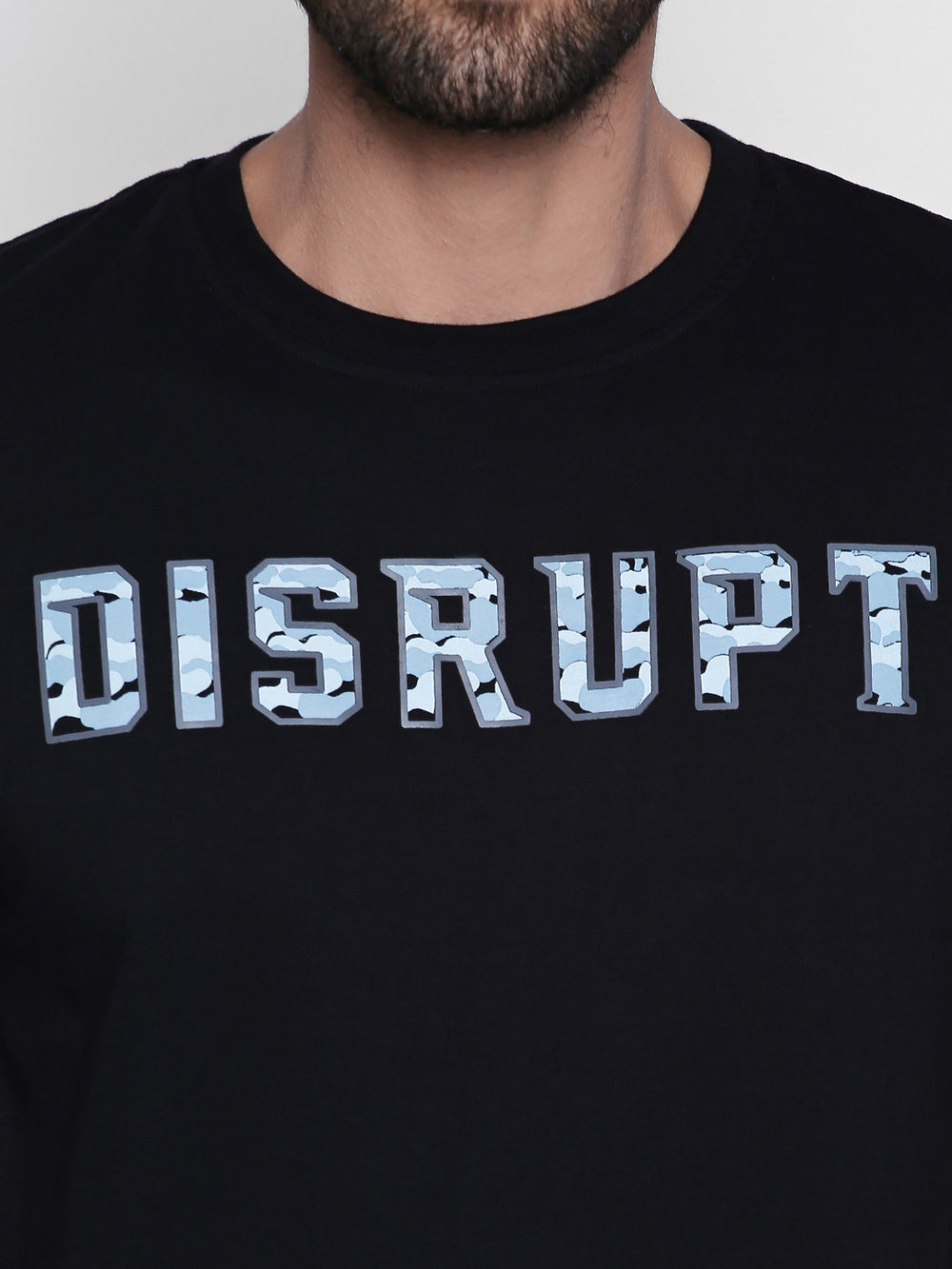 Disrupt Graphic Print Cotton Half Sleeve T-Shirt For Men's
