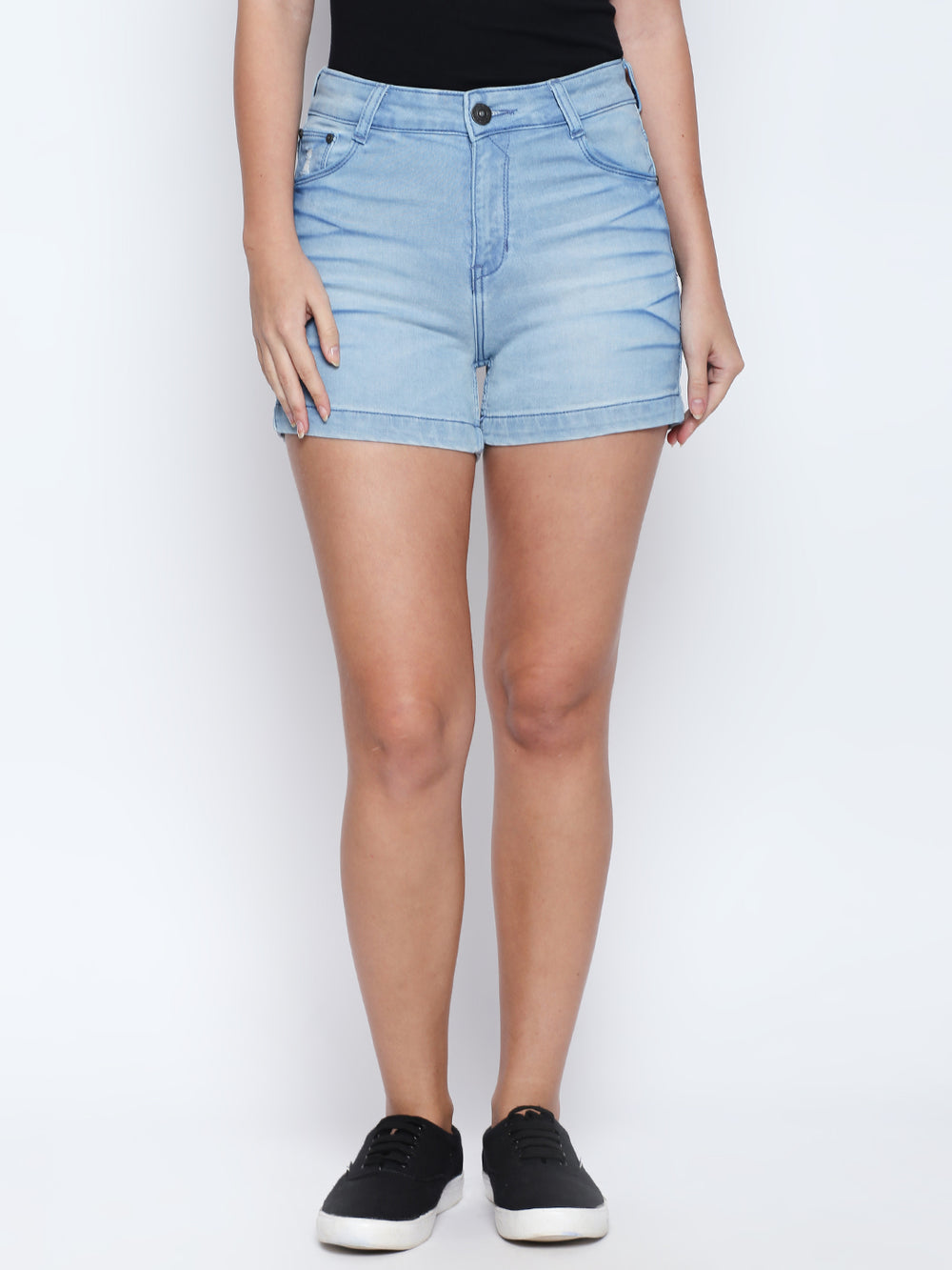 Light Blue Slim Fit strechable Hot Shorts
