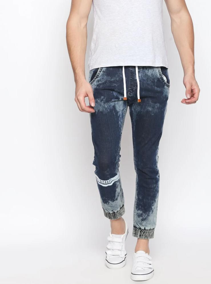 Disrupt Blue Regular Fit Joggers For Men's