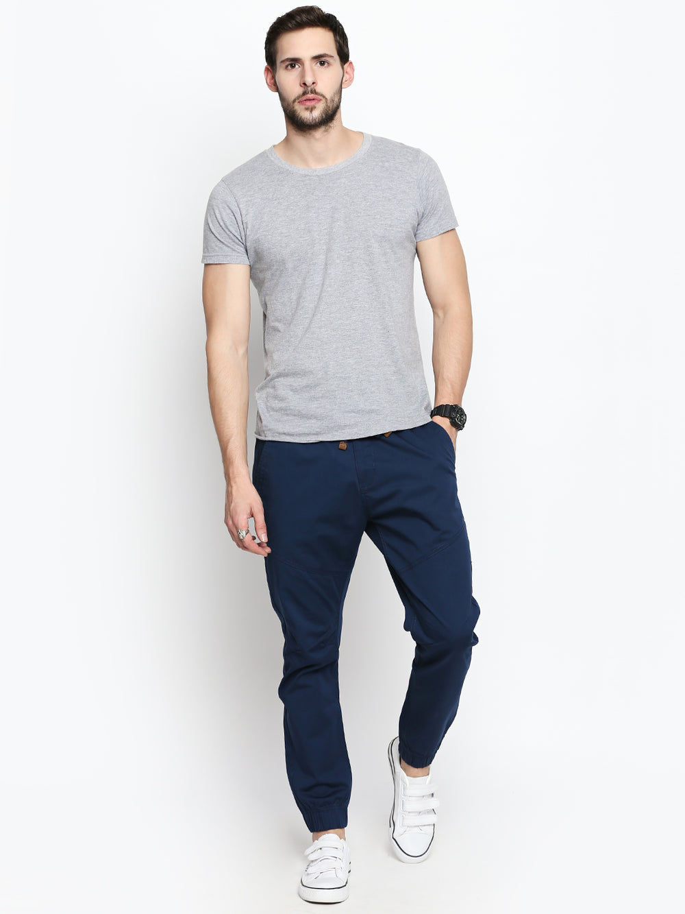Disrupt Ink Blue Regular Fit Joggers For Men's
