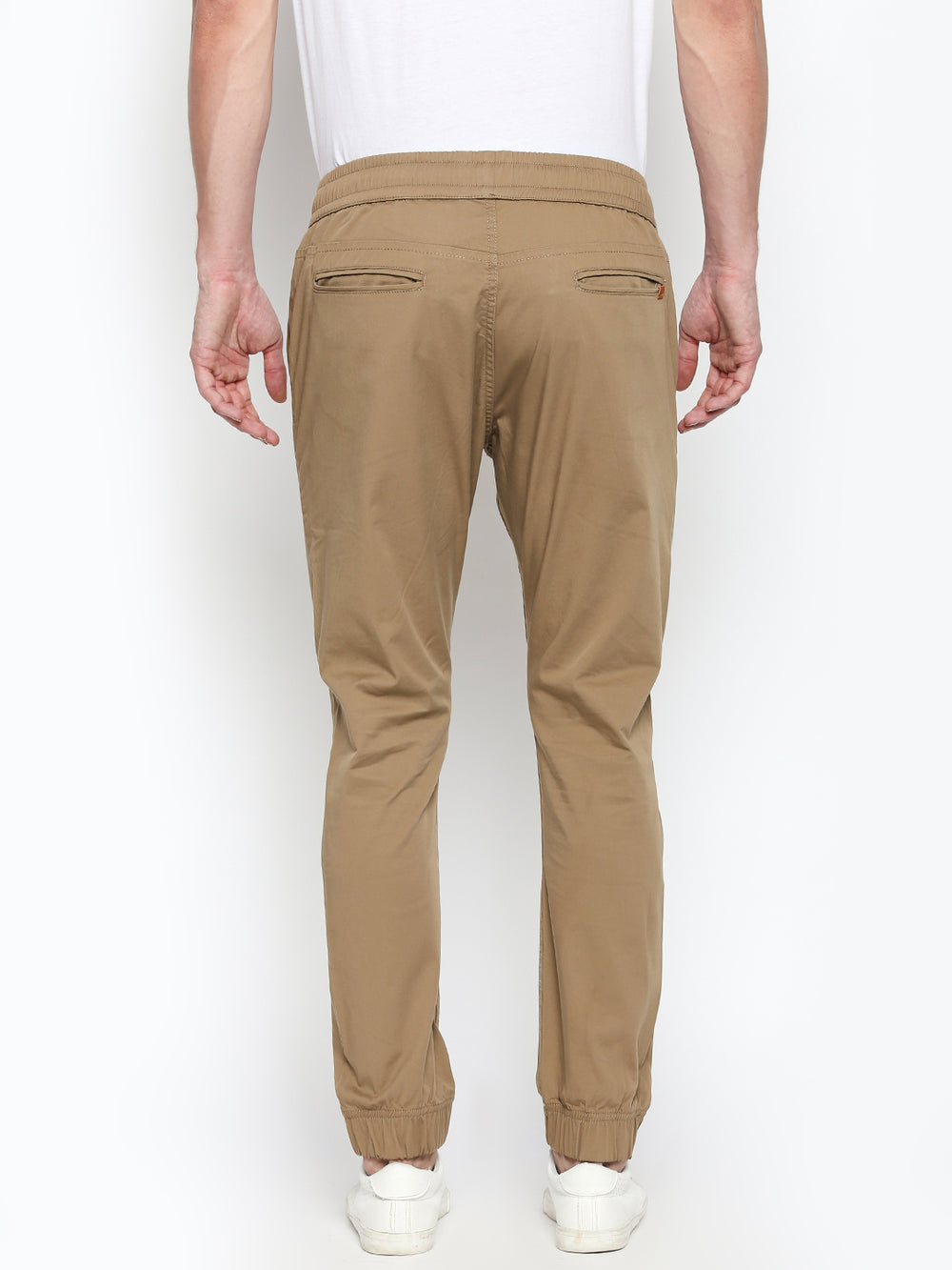 Disrupt Cream Regular Fit Joggers For Men's