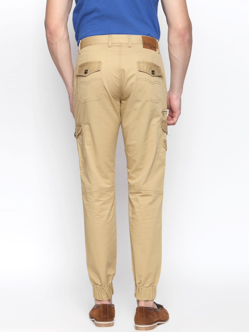 Disrupt Khaki 100% Cotton Regular Fit Joggers For Men's
