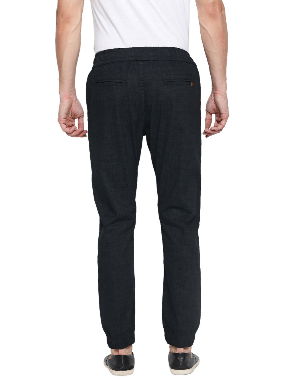Disrupt Black Regular Fit Joggers For Men's