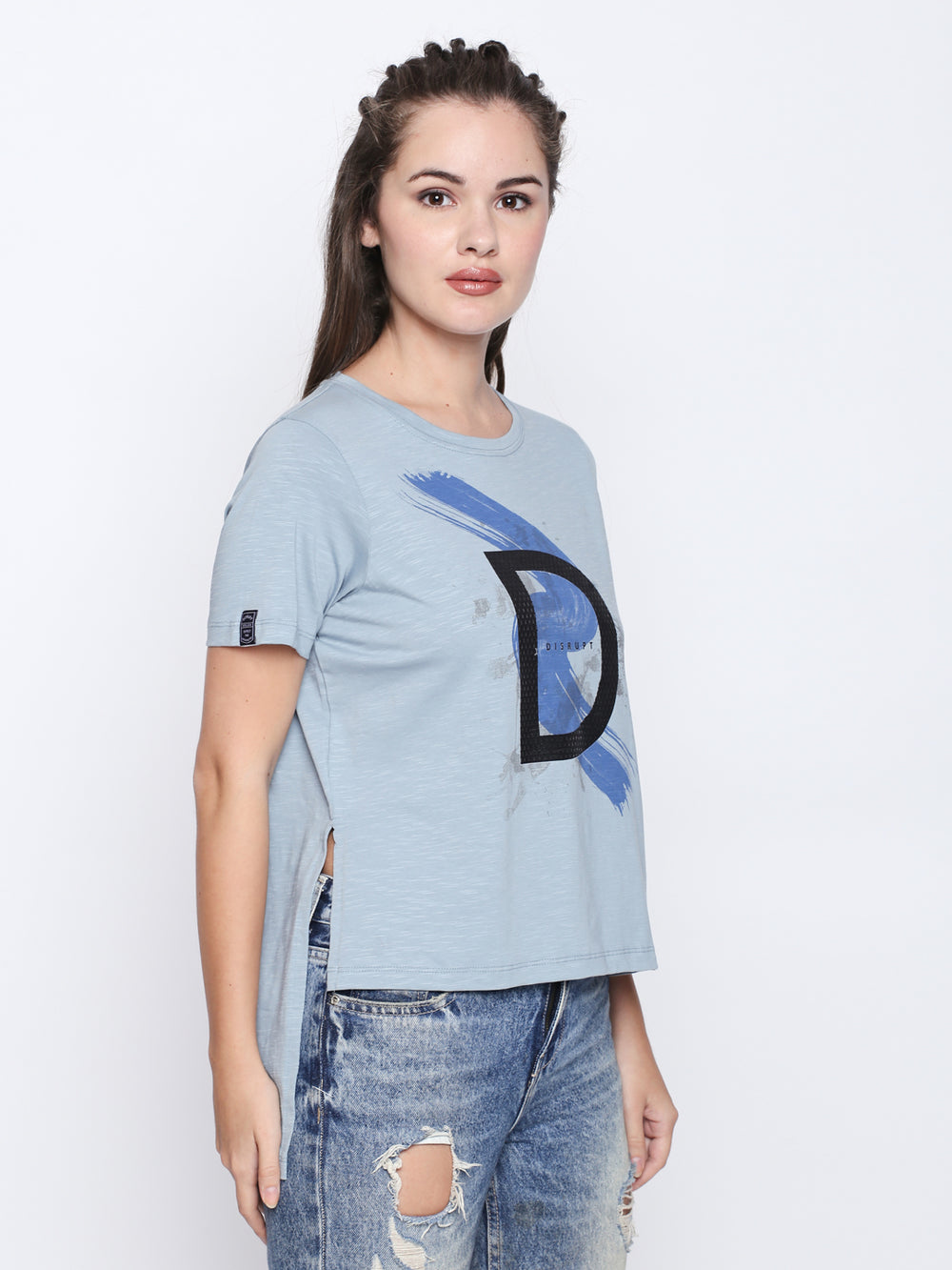 Disrupt Graphic Print Half Sleeve T-Shirt