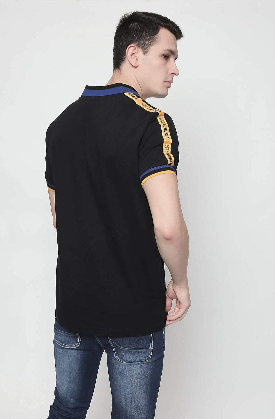 Black half sleeve Polo T-shirt