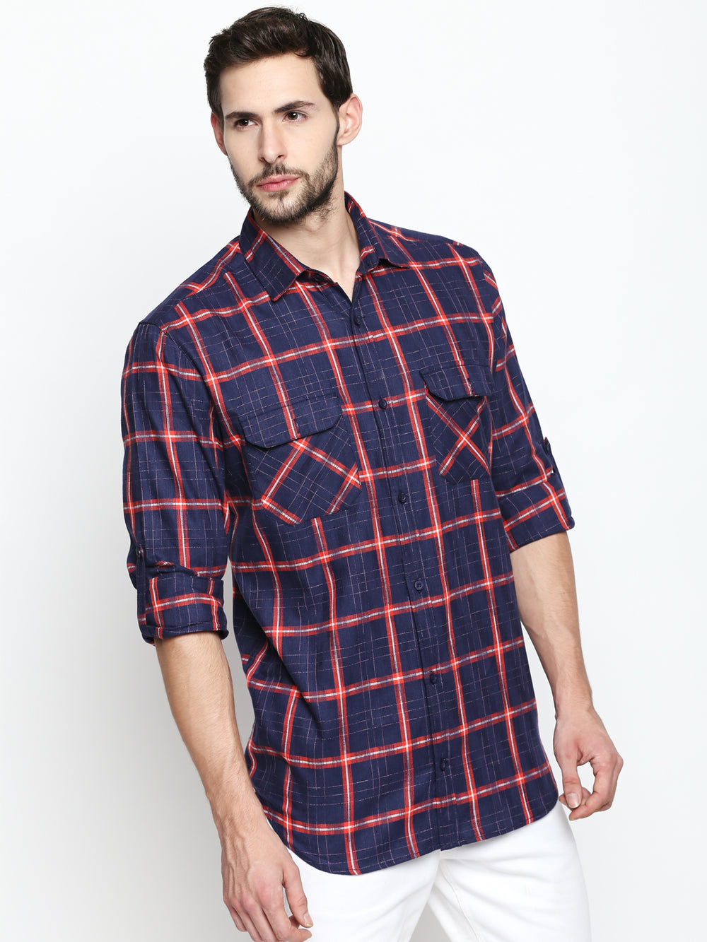 Disrupt Navy Cotton Full Sleeve Shirt
