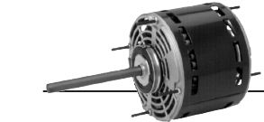 US Motors 1865, PSC, Direct Drive Fan, 1/2 HP, 1-Phase, 1075 RPM Motor