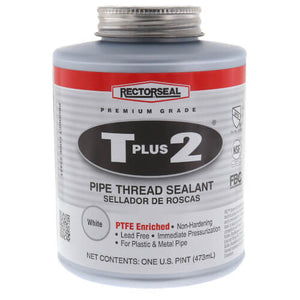 Rectorseal 23431 Pint Brush Top T Plus 2 Pipe Thread Sealant