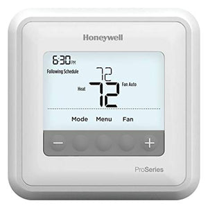 Honeywell T4 Pro Programmable Thermostat, 2H/1C Heat Pump, 1H/1C Conventional
