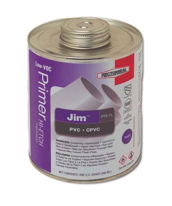 Rectorseal Jim 55914 Pint PVC PRIMER