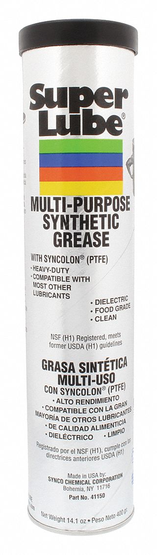 Super Lube 41150 Synthetic Grease (NLGI 2), 14.1 oz Cartridge
