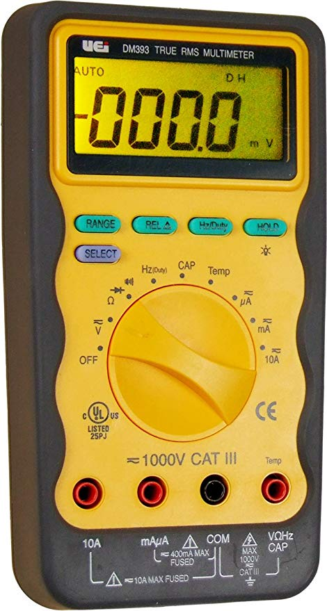 UEi DM393 True RMS Digital Multimeter