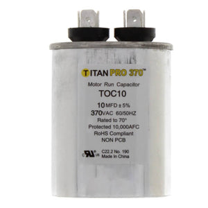 TITAN PRO TOC10 CAPACITOR 10M370V RUN CAPACITOR OVAL