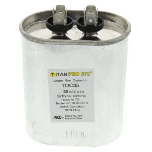 TITAN PRO TOC35 CAPACITOR 35M370V RUN CAPACITOR OVAL