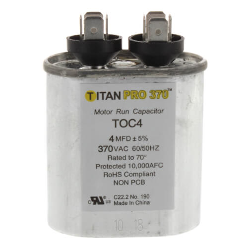 TITAN PRO TOC4 CAPACITOR 4M370V RUN CAPACITOR OVAL