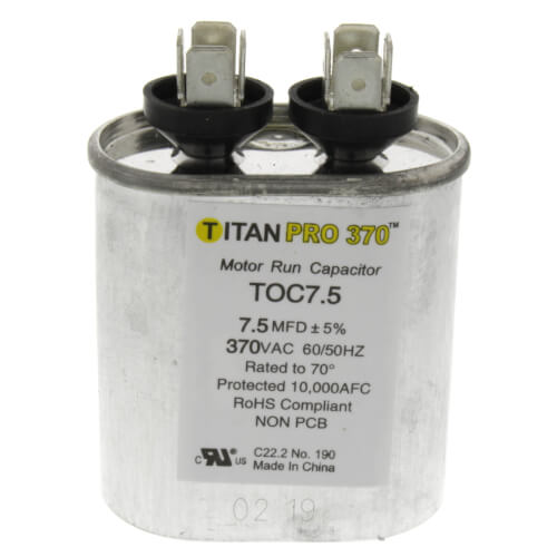 TITAN PRO TOC7.5 CAPACITOR 7.5M370V RUN CAPACITOR OVAL