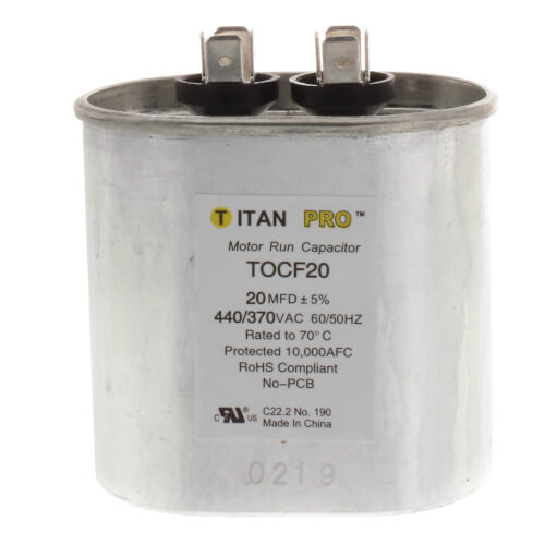 TITAN PRO TOC20 CAPACITOR 20M370V RUN CAPACITOR OVAL