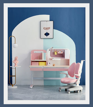 igrow Cube Art Study Desk Blue/Pink/Green-Jory Henley | JCD NZ Limited-Desk-Igrow Pink-Jory Henley Furniture