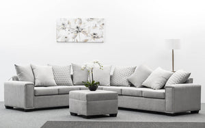 Bosston Lounge Suite with Ottoman - Jory Henley Furniture