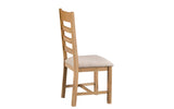 Cottage Ladder Back Dining Chair Fabric Seat