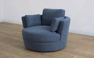Croft Swivel Armchair-Joryhenley-Capri Charcoal-Jory Henley Furniture
