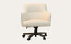 Elegance Office Chair Ivory Fabric