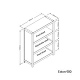 Eston Bookcase 3-Tier - Jory Henley Furniture