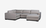 Ocean modular Lounge-Aurora Stone-Joryhenley-G: 6 PCs Set (Corner Set with Chaise)-Jory Henley Furniture