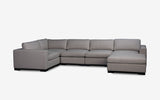 Ocean modular Lounge-Aurora Stone-Joryhenley-E: 5 PCs Set (Corner Set with Chaise)-Jory Henley Furniture
