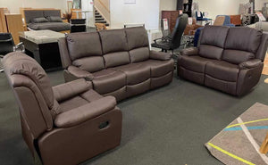 Tribbiani Recliner 1/2/3 Seat-Joryhenley-3+2+1 Seat-PU Brown-Jory Henley Furniture