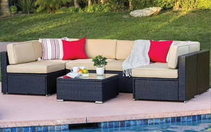 7 PCs Marco Outdoor Lounge Package-Jory Henley-Jory Henley Furniture