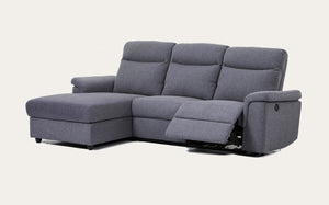 Oscan Recliner with Chaise-Joryhenley-Dark Grey-Left Chaise while facing sofa-Jory Henley Furniture